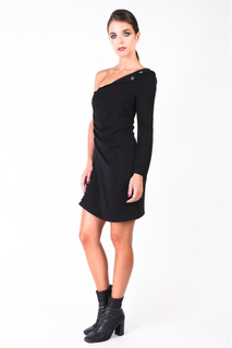 Pinko klänning svart 1B12A9-6326 kvinna 44