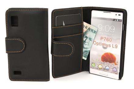 Plånboksfodral LG Optimus L9 (p760) (Svart)