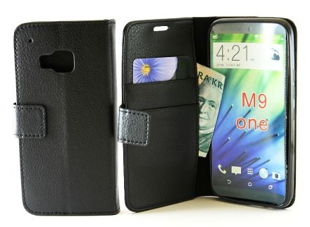 Standcase TPU wallet HTC One (M9) (Svart)