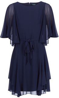 Lauren Ralph Lauren Korte kjoler NAVY-3/4 SLEEVE-DAY DRESS Lauren Ralph Lauren