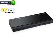 UH720 - hubb - 7 portar - skrivbordsmode USB Hub - USB 3.0 - 7 porte - Svart