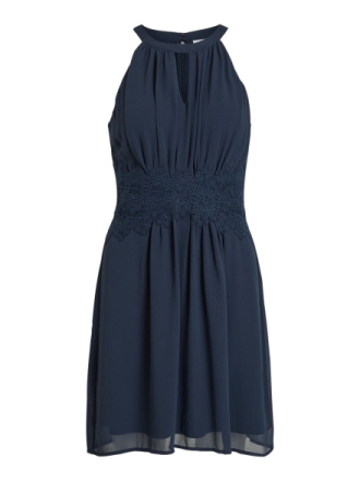 VILA Halterneck Short Dress Women Blue