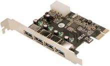 USB 3.0 4-Port PCI Express Card - USB-ad