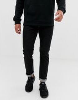 Emporio Armani - J06 svarttvättade jeans med slim fit - Svart