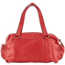 PIECES Kleine Leder Tasche Damen Rot