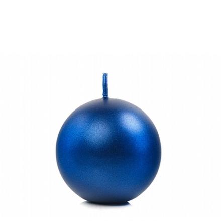 Kuglelys 6 cm Royalblå
