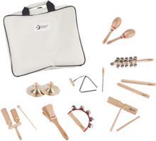 Classic Toys wooden music set including storage bag