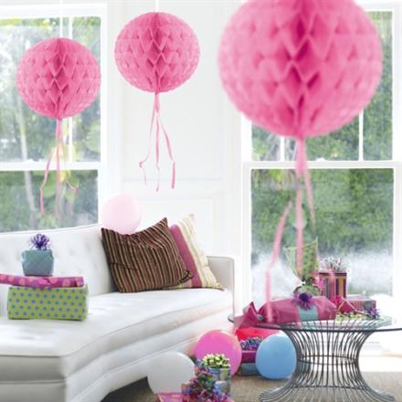 Pink Honeycomb Papir kugle