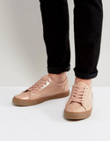 ASOS Trainers In Pink Patent With Gum Sole - Pink