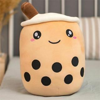 Mjukt Fylld Plyschkudde Bubble Tea Boba Cup-mönster