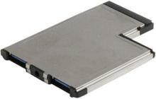 2 Port infälld montering ExpressCard 54mm SuperSpeed ??USB 3.0 Card Adapter - USB-adapter