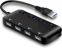 4-porttinen USB 3.0 Hubi kytkimellä