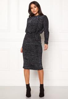 Y.A.S Yenna Lurex L/S Dress Black XS