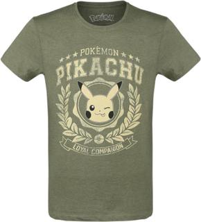 Pokemon - Pikachu - Varsity Winking -T-skjorte - grønn
