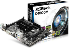 D1800M Moderkort - Intel Bay Trail-D - Intel Onboard CPU socket - DDR3 RAM - Micro-ATX