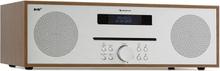 Silver Star CD-DAB max 2x20W slot-in CD-player DAB+ BT alu brun