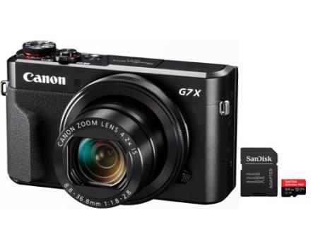 Canon Powershot G7 X Mark II + 64GB MicroSD A1 C10 V30 UHS-I U3 (5011103809)