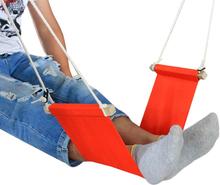 Portable desk footrest, leg rest hammock, make your work time very comfortable. Foot hammock