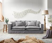 DELIFE Hoezenbank Noelia 240x140 cm grijs met Kussen Bigsofa