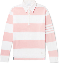 Striped Cotton Rugby Shirt - Pink