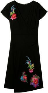 Desigual - Woman - Black dress with embroidery - Asha - Asha - Size S