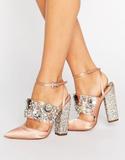 ASOS PAPAYA Bridal Embellished Heels - Beige