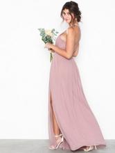 NLY Eve Halterneck Beaded Gown Maxiklänningar Dark Rose