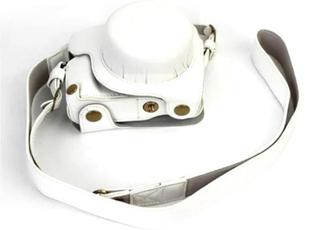 Panasonic DMC-GF8 og GF7 Beskyttelsesveske laget av kunstlær - Hvit
