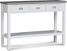 Hugo avlastningsbord med 3 lådor - Vit / Cement