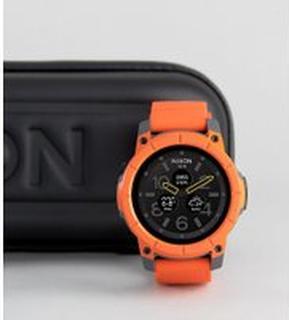 Nixon The Mission Smart Watch In Orange - Orange