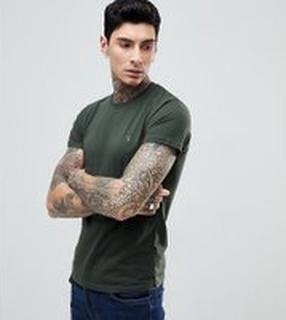 Farah - Farris - Mörkgrön t-shirt med smal passform och logga