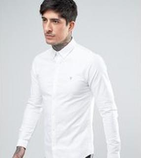 Farah - Sansfer - Vit oxfordskjorta med extra smal passform - Endast hos ASOS - Vit