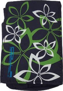 Smarttelefon City Veske (Hvit Blomst - Blå Label) Mobil Veske