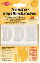 Kleiber Strykmärke Bokstäver & Siffor Vit 3,5cm