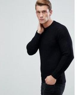 Brave Soul Knitted Jumper - Black