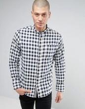 980f4cd2fba8 Brave Soul - Rutig farfarsskjorta i flanell - Marinblå