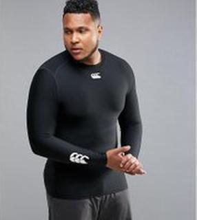 Canterbury PLUS Thermoreg Baselayer Long Sleeve Top In Black E546845-989 - Black