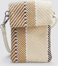 Don Donna Berta mobilväska strå, Beige med mönster