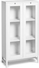 Mavis - Falsterbo Cabinet Glass Doors 127 cm, White Lacquer