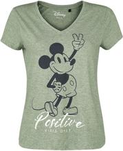 Mickey Mouse - Positive -T-skjorte - grønnmelert