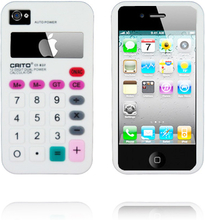 Calculator Rosa Plus (Hvit) iPhone 4S Deksel