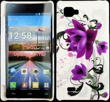 Valentine (Två Lila Blommor) LG Optimus 4X HD Skal