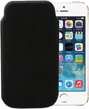 Ekte Lær Pouch for iPhone 5 (Svart)