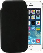iPhone 5 Läderfodral (Svart) Äkta Skinn