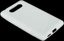 S-Line Solid (Hvit) Nokia Lumia 820 Deksel