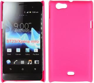 Hard Shell (Hot Rosa) Sony Xperia Miro Deksel