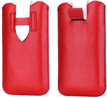 SmartPouch (Rød / Hvit) Lærveske 7,5x13cm