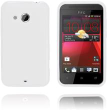 GelCase (Hvit) HTC Desire 200 Deksel