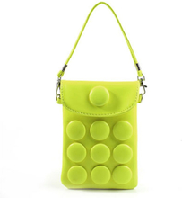 Button Bag (Gul) smarttelefon Veske m/ Bærestropp