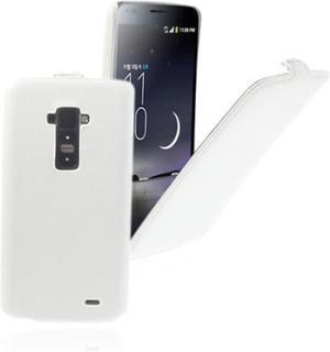Fuji (Hvit) LG G Flex Lær Flipp Deksel